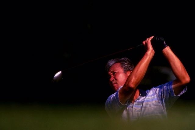 中日クラウンズを3連覇しているのは青木功と尾崎将司だけだ(※写真は1980年中日クラウンズのものではありません/Jon Cuban  Allsport)