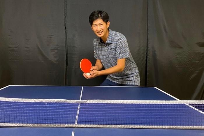 星野陸也は自宅で卓球をしながらシーズン再開を待つ(本人提供画像) 星野陸也