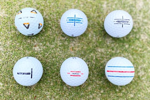 タイトリスト、ダンロップ、キャロウェイ、テーラーメイドからアライメント系ボールが続々登場