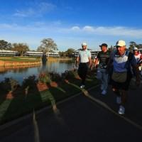 PGAツアーは再開に向けガイドラインを選手らに送った(※写真は20年ザ・プレーヤーズ選手権/ Mike EhrmannGetty Images) 2020年 チャールズ・シュワブチャレンジ 事前 ダスティン・ジョンソン