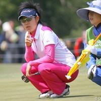 初のホストプロとしての出場も、悔しい予選落ちを喫した森桜子 2010年 ヤマハレディースオープン葛城 2日目 森桜子