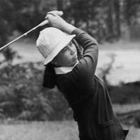 日本人女性ゴルファーとして歴史に名を残した樋口久子(※写真は1976年 GettyImages) 1976年 樋口久子