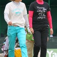 開催コースの葛城GCに所属する藤野オリエは18位フィニッシュ 2010年 ヤマハレディースオープン葛城 最終日 藤野オリエ