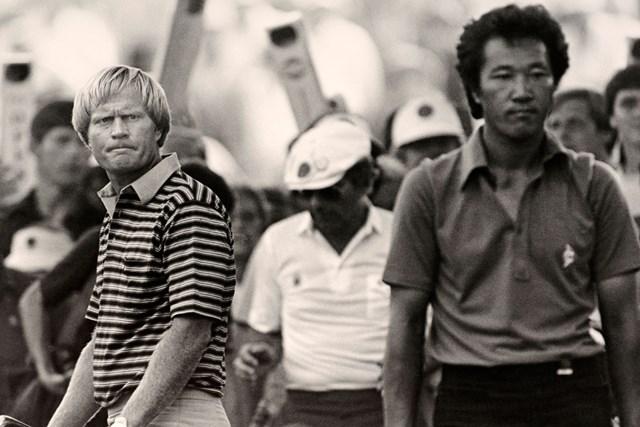 1980年の全米オープン。青木功(右)は帝王ニクラスと歴史的な死闘を演じた(Phil-Sheldon Popperfoto Getty-Images)