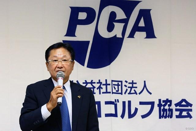倉本昌弘 日本プロゴルフ協会の倉本昌弘会長。国内シニアツアーは7月に開幕へ