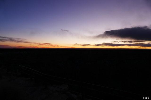 日没直後のコントラスト