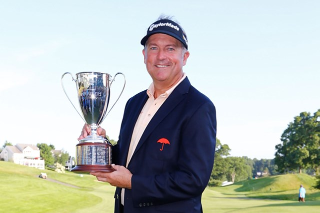 44歳で悲願の初優勝を飾ったケン・デューク(Jared Wickerham /Getty Images)