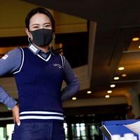 黒いマスク姿で(Getty Images/JLPGA提供) 2020年 アース・モンダミンカップ 事前 河本結