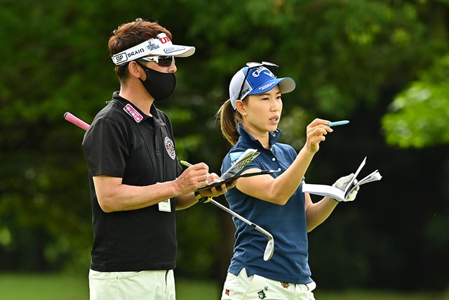 上田桃子は「みんなが健康であるのが大事。試合を成功させたい」と語った(Getty Images/JLPGA提供)