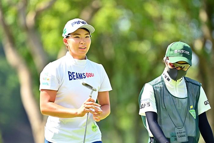 攻めのゴルフが真骨頂(Getty Images/JLPGA提供) 2020年 アース・モンダミンカップ 2日目 渋野日向子