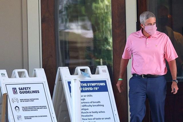 2020年 トラベラーズ選手権 事前 ジェイ・モナハン PGAツアーは感染対策をさらに強化する(Rob Carr/Getty Images)