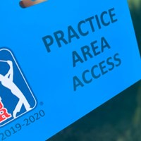 練習場への入場を許可するカード。選手に帯同するスタッフも人数を制限される(提供画像) 2020年 ロケットモーゲージ・クラシック 事前 許可証