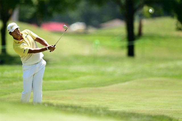 松山英樹は「11番まではいいプレー」と納得だったが(Stacy Revere/Getty Images)