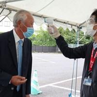 JGTO青木功会長も検査を受けた(提供:JGTO) 2020年 ゴルフパートナーエキシビショントーナメント 事前 青木功