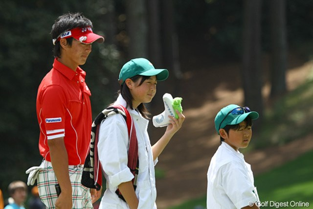2010年 マスターズ事前 石川3きょうだい 2年続けて3人でパー3コンテストに出場!
