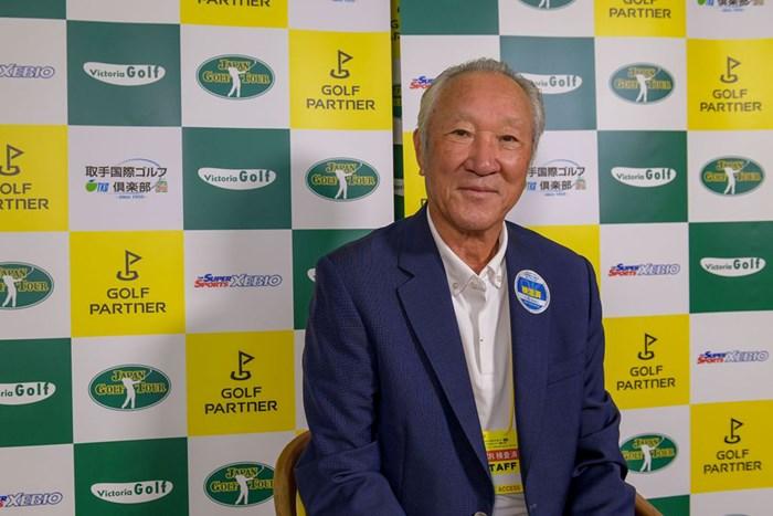 JGTO青木功会長も「検温済」(提供:JGTO/JGTO images) 2020年 ゴルフパートナー エキシビショントーナメント(非公式) 事前 青木功