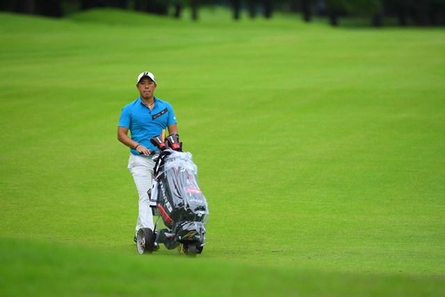 2020年 ゴルフパートナー エキシビショントーナメント(非公式) 初日 堀川未来夢 首位発進を決めた堀川未来夢(JGTO/JGTO images)