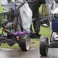 池田勇太の電動アシストカートは名前入り。なぜなら自前だから 2020年 ゴルフパートナー エキシビショントーナメント(非公式) 初日 池田勇太