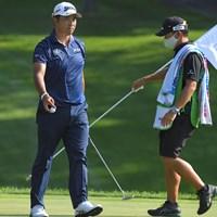 8番では3mにつけてバーディ。ショットとパットがかみ合った(Stan Badz/PGA TOUR via Getty Images) 2020年 ワークデイ・チャリティオープン 初日 松山英樹 早藤将太