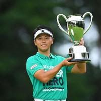 22歳の関藤直熙が優勝を飾った(JGTO/JGTO images) 2020年 ゴルフパートナー エキシビショントーナメント(非公式) 最終日 関藤直熙