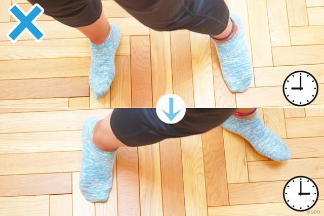 床の上だと滑りやすいため、より意識が高まる