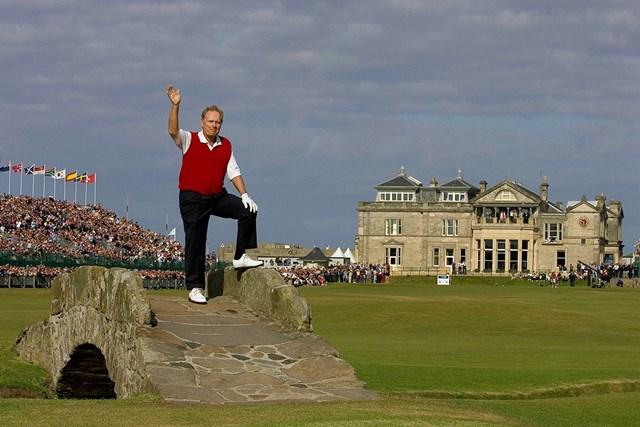 2005年 全英オープン 最終日 ジャック・ニクラス ゴルフの聖地でキャリアに終止符を打つニクラス(R&A via Getty Images)