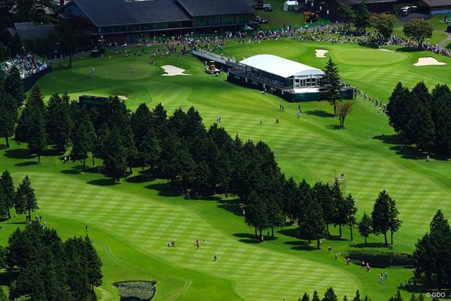 広大なゴルフ場ではたくさんのスタッフがそれぞれ大会に従事している