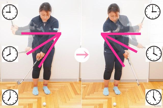 自宅でアプローチ練習 プロはちょっと違う! 馬場ゆかり 何となくの振り幅では距離イメージが明確化されない