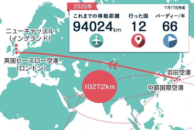 2020年 ベットフレッド英国マスターズ 事前 川村昌弘マップ いよいよシーズン再開!東京からの直行便でロンドンへ