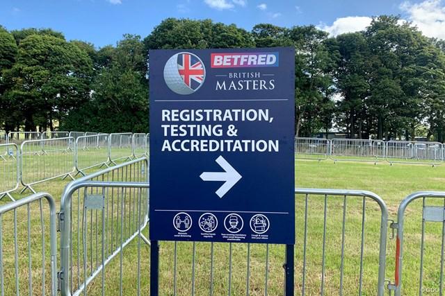 2020年 ベットフレッド英国マスターズ 事前 欧州ツアーの案内 試合会場ではPCR検査と出場登録を一緒に行います