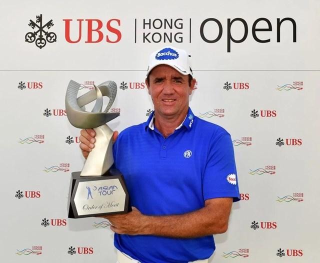 2017年 UBS香港オープン 最終日 スコット・ヘンド 2016年「香港オープン」を終えて、アジアンツアー賞金王を決めた(Paul Lakatos/Asian Tour)