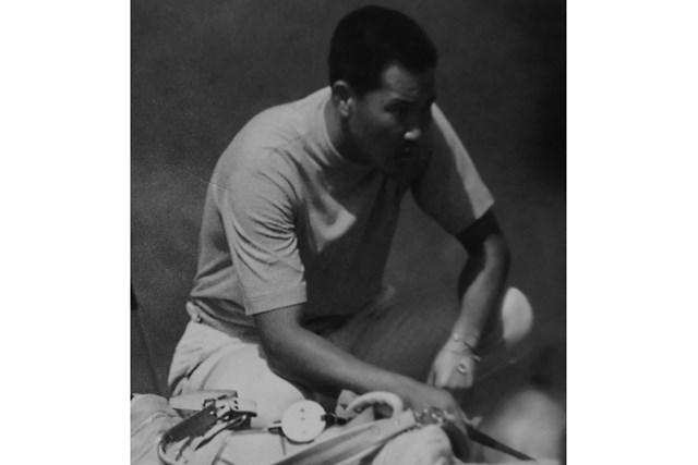 2020年 残したいゴルフ記録 青木功 プロ初優勝を挙げた1971年当時の青木功(武藤一彦氏提供)