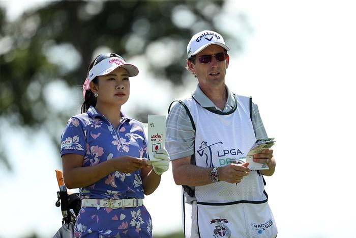 河本結はポーラ・クリーマーらを支えてきたコリン・キャン・キャディと組んで好発進(Patrick Smith/Getty Images) 2020年 LPGAドライブオン選手権 河本結