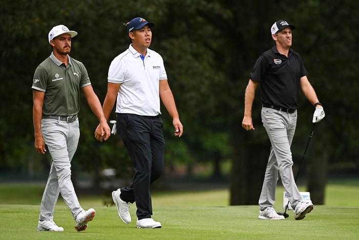 最終組をプレーしたファウラー、アン、トッド (Ben Jared/PGA TOUR via Getty Images) 2020年 バラクーダ選手権  3日目 リッキー・ファウラー アン・ビョンフン ブレンドン・トッド
