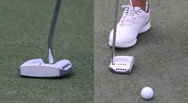 シャール・シュワルツェルのPXGパター シュワルツェルが使うPXGのパターは重心よりも後方にシャフトが入る(画像提供GolfWRX、PGATOUR.COM)