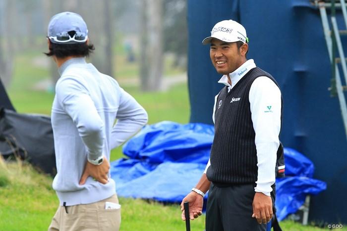 寒さもあって長袖姿 2020年 全米プロゴルフ選手権 事前 松山英樹と石川遼
