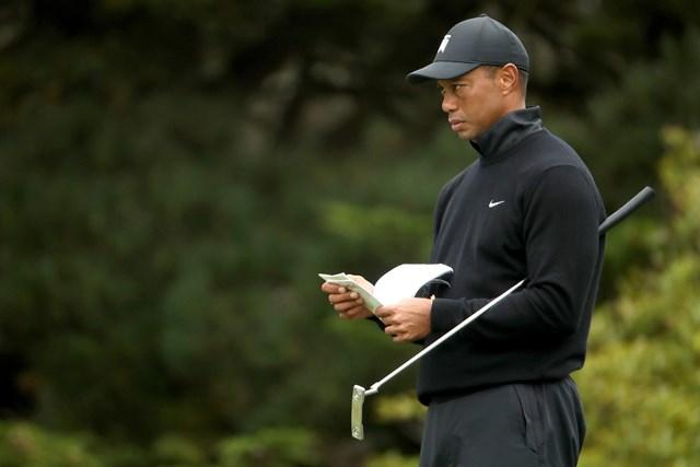 タイガー・ウッズは新しいパターをメジャーに持ち込んだ(Christian Petersen/PGA of America/PGA of America via Getty Images)