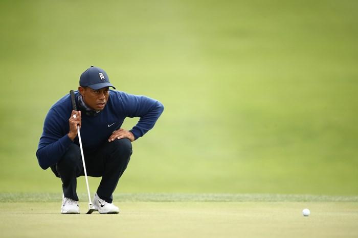 0.75インチ長くなったタイガー・ウッズの新たなパター(Ezra ShawGetty Images) 2020年 全米プロゴルフ選手権 初日 タイガー・ウッズ