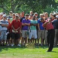 調子が悪くても注目度は高いタイガー・ウッズ(写真は2010年WGCブリヂストンインビテーショナル Photo by Chris Condon/PGA TOUR) 2010年 WGCブリヂストンインビテーショナル 最終日 タイガー・ウッズ