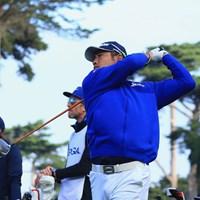 ドライバーショットを放つ松山英樹 2020年 全米プロゴルフ選手権 2日目 松山英樹