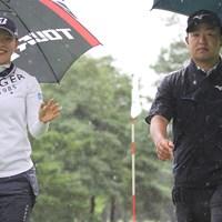ペアマッチでは吉田優利(左)とコンビを組んだ時松隆光。笑顔とキメ顔のコントラスト 2020年 吉田優利 時松隆光