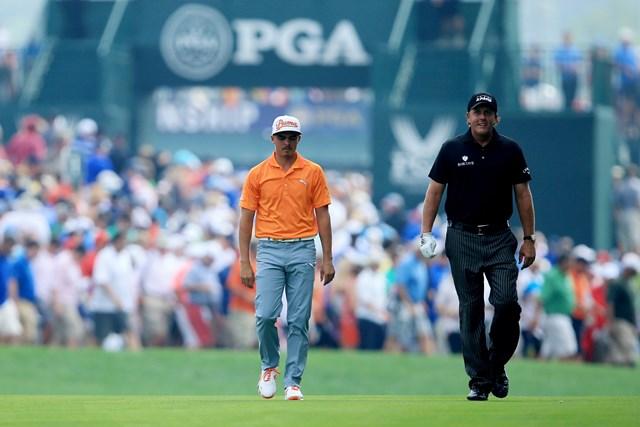 2014年 全米プロゴルフ選手権 最終日 リッキー・ファウラー フィル・ミケルソン 最後までフェアに戦い続けたファウラーとミケルソン。グッドルーザー(David Cannon/Getty Images)