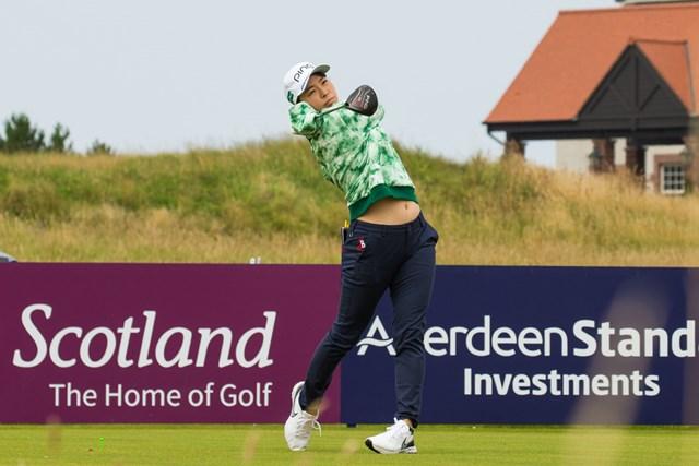 2020年 ASIスコットランド女子オープン  事前 渋野日向子 開幕前に練習ラウンドを行った渋野日向子(画像提供LPGA/Tristan Jones)