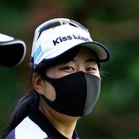 なんだろう、この感じ(代表撮影:岡沢裕行) 2020年 NEC軽井沢72ゴルフトーナメント 事前 武尾咲希