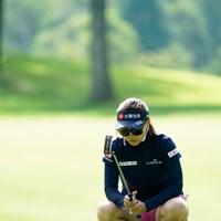 瞑想中?(代表撮影:岡沢裕行) 2020年 NEC軽井沢72ゴルフトーナメント 事前 テレサ・ルー