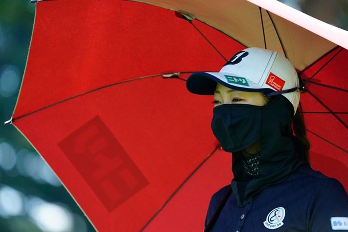 秘めた美(代表撮影:岡沢裕行) 2020年 NEC軽井沢72ゴルフトーナメント 事前 松田鈴英