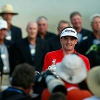 脅威の粘りでメジャー初制覇を決めたブラッドリー(Kevin C. Cox/Getty Images) 2011年 全米プロゴルフ選手権 最終日 キーガン・ブラッドリー