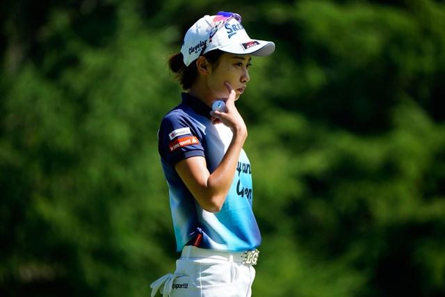 2020年 NEC軽井沢72ゴルフトーナメント 初日 安田祐香 前半のプレーに「焦りはなかったけど苦しかった」と話した安田祐香(代表撮影:鈴木祥)