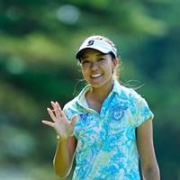 ハーイ、エイミーだよ!(代表撮影:岡沢裕行) 2020年 NEC軽井沢72ゴルフトーナメント 初日 エイミー・コガ
