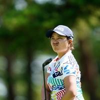 ザ・渋い顔(代表撮影:岡沢裕行) 2020年 NEC軽井沢72ゴルフトーナメント 初日 鈴木愛